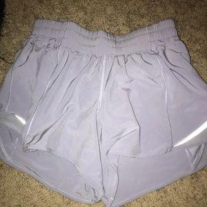 lavender lulu lemon running shorts